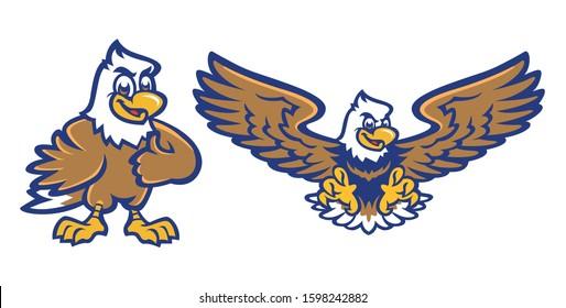 Eagle Mascot for Elementary School Sport Team in Vector Illustration