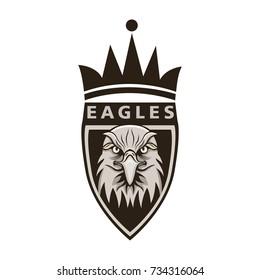 Eagle mascot logo design vector illustration