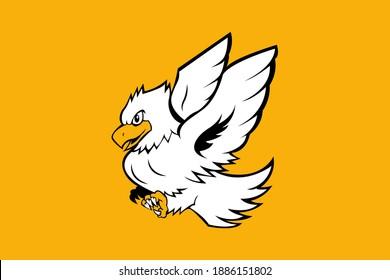 EAGLE MASCOT LOGO VECTOR EPS