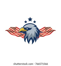 Eagle mascot logo vector premium quality design emblem isolated team simple
