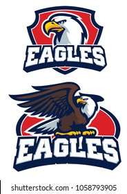 eagle mascot in set