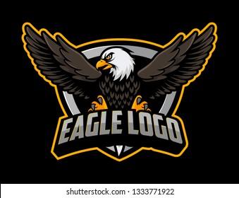 Eagle mascot vector. Eagle esport logo