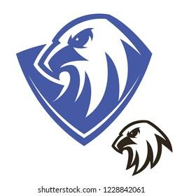 Eagle modern vector logo template