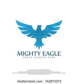 Eagle Polygon Logo Template. Eagle logo. bird logo design. Flying logo