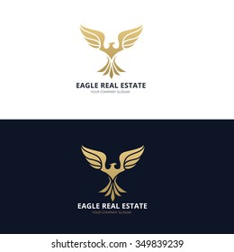 Eagle real estate logo template
