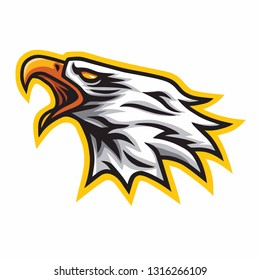Eagle Scream Mascot Vector Logo Sign