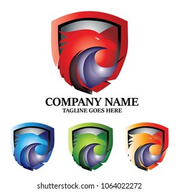 Eagle Security Protection Shield Vector Logo Design