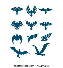 Eagle set Logo Icon Template