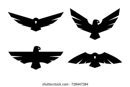 Eagle, a set of monochrome logos.