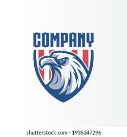 eagle shield logo for company and team