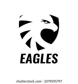 Eagle shield logo design template. Vector illustration