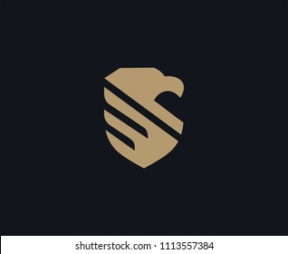 eagle shield logo design template