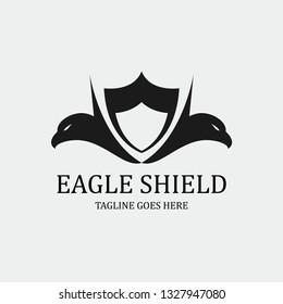 Eagle shield logo, Eagle protection icon. Vector illustration