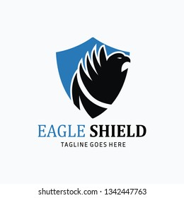 Eagle shield logo. Eagle logo. Vector illustration