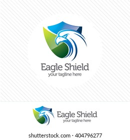 Eagle shield security logo , abstract symbol of security. Shield protection logo vector.