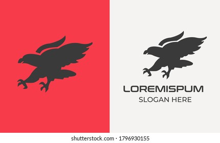 Eagle with shield. Typographic labels, stickers, logos and badges. Flat vector illustration. eagle vector ,phoenix logo design ,eagle logo line ,hawks vector ,american eagle icon ,hand drawing 7