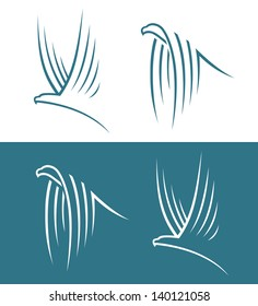 Eagle signs - vector illustration