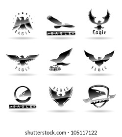 Eagle Silhouettes Set 2.