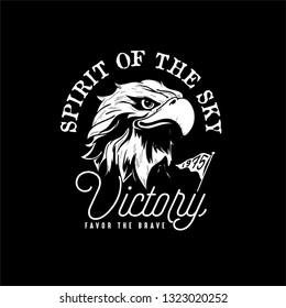 eagle sketch for tattoo or t-shirt print