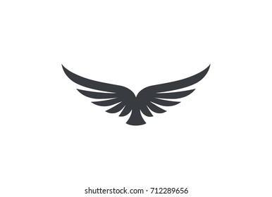 Eagle soaring rising Wings Logo design vector template. Luxury corporate heraldic flying Falcon Phoenix Hawk bird Logotype concept icon.