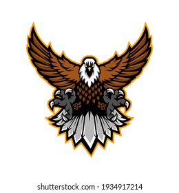 Eagle sport Mascot Logo Design Illustration Vector