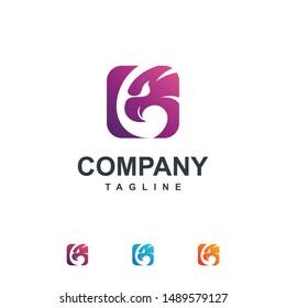 Eagle with Square Shape Logo Template