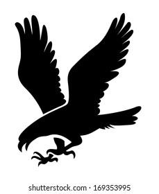 Eagle symbol, emblem design, attacking eagle illustration.