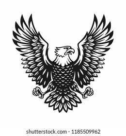 eagle symbol illustration. illustration design on white background.