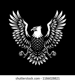 eagle symbol illustration design on dark background.