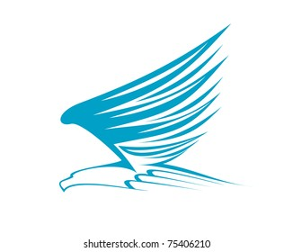 Eagle symbol isolated on white or logo template. Jpeg version also available in gallery