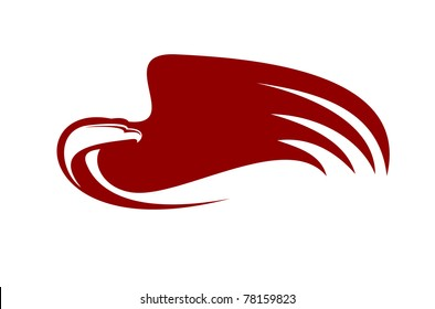 Eagle symbol isolated on white, such  a logo. Jpeg version also available