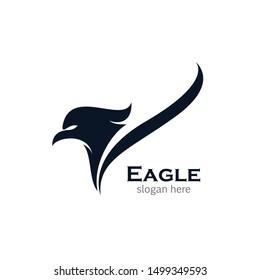 Eagle symbol vector icon illustration