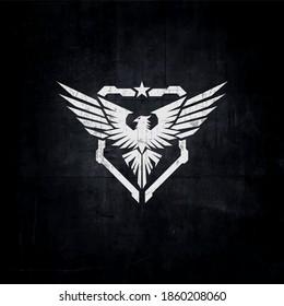 eagle tactical logo, bird military logo concept