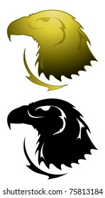 Eagle tattoo in two styles