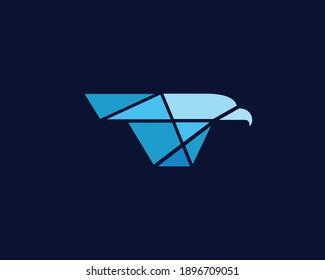 Eagle Tech Logo Template Design Vector, Emblem, Design Concept, Creative Symbol, Icon