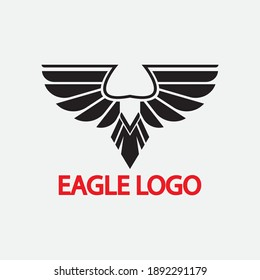 eagle vector illustration design icon logo template