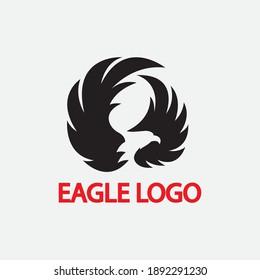 eagle vector illustration design icon logo template