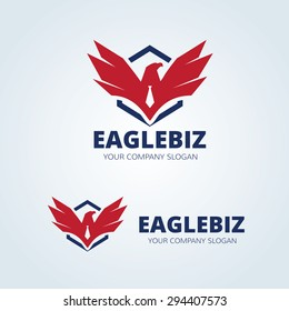 Eagle Vector Logo Design Template
