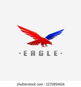 eagle vector logo illustration