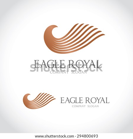 eagle vector logo template stock vector royalty free 294800693