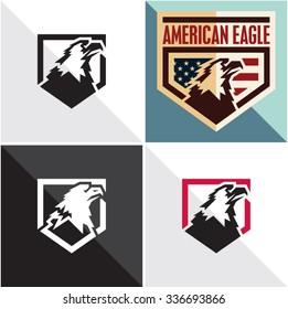 Eagle vector sign. American eagle vintage style label