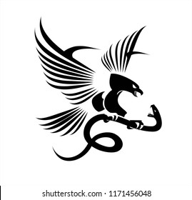 Eagle and viper, eagle vs snake, predator and prey