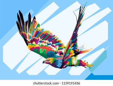 Eagle in Wedha's Pop Art Portrait vector illustration