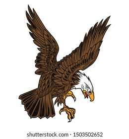Eagle Wing Fly Hawk Vector Yellow