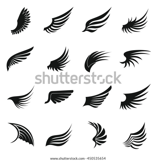 eagle wing icons set simple ctyle stock vector royalty free 450535654 https www shutterstock com image vector eagle wing icons set simple ctyle 450535654