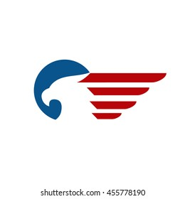 Eagle and wing logo