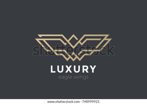 Cmgamm Vector Logo Design Vector Eagle Wings Logo
