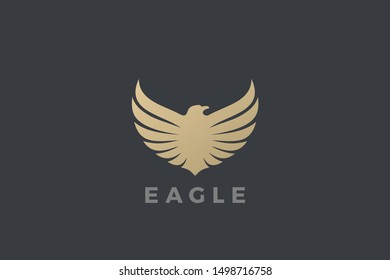 Eagle Wings Logo abstract luxury design vector template. Falcon Hawk Logotype concept icon.