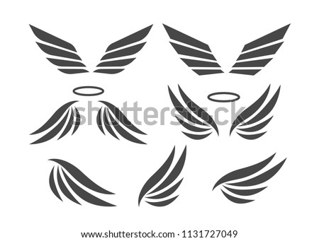 eagle wings vector wings angel isolated stock vector royalty free