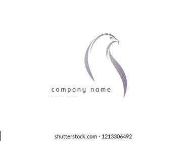 Eagle-Falcon symbol. Creative logo design concept, Birds isolated, swoosh stylise , abstract birds